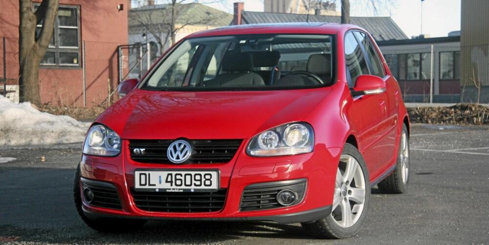 GJENGANGER: VW Golf femte generasjon regnes som et trygt bruktbilkjøp. FOTO: HM Arkiv