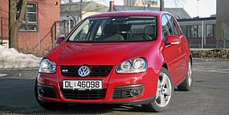 KOMPAKTBIL: Den femte generasjonen av VW Golf var blant bestselgerne i Norge hvert eneste år den ble lagd.
