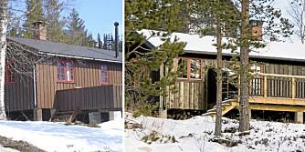 FØR OG ETTER: Hytta ble større og mer funksjonell med tilbygg i hver ende.
