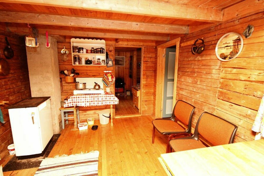KJØKKENET FØR: Kjøkkenet slik det så ut da Anne var yngre.