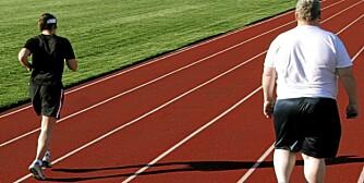 STOR BELASTNING: Sykling og svømming er sunnere enn løping for overvektige, mener NIMI-lege Anders Randa.