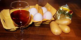 MATMYTER: Blir du tjukk av å spise potet og får du høyt kolesterol av å spise egg? Er ett glass rødvin virkelig sunt og er det dumt å bruke olje til steking på høy temperatur?