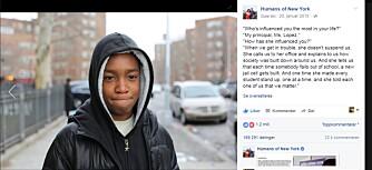 STARTEN: Det var slik det startet. Vidal Chastenet fortalte om rektoren sin på Humans of New York sin Facebookside.