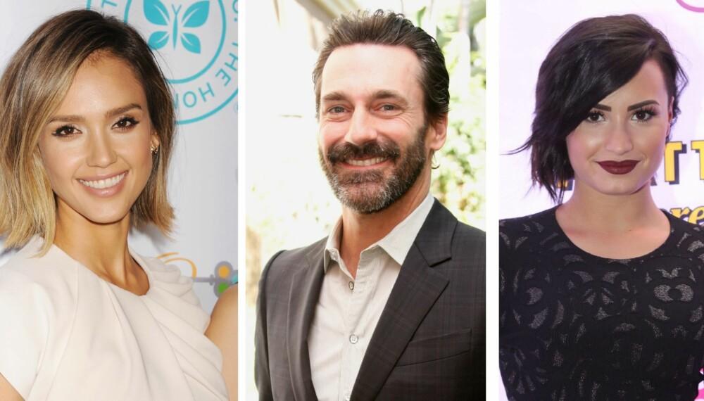 ÅPNE: Jessica Alba, Jon Hamm og Demi Lovato har alle fortalt om sine psykiske lidelser.