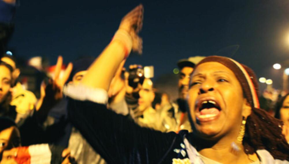 KAMP: En av mange millioner som krevde Mubaraks avgang under opprøret i Egypt.