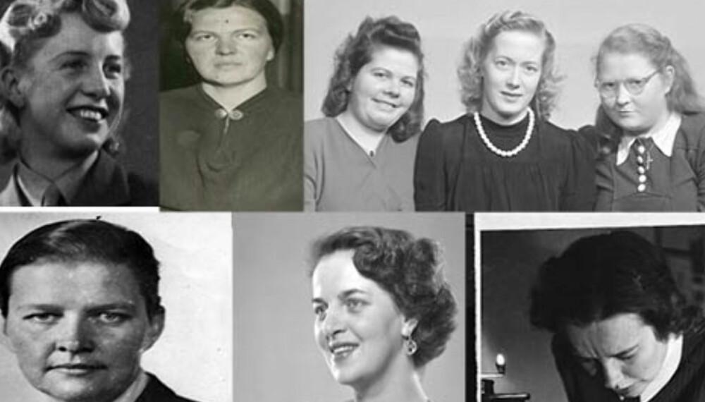 KRIGSHELTER: Et knippe av kvinnene som var med i motstandskampen.