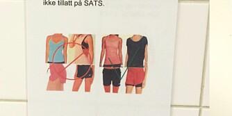 TRIVSELSREGLER: Eline Wærp (24) er usikker på både om og hvorfor treningsklærne hennes kan virke «støtende» på treningssenteret sitt.