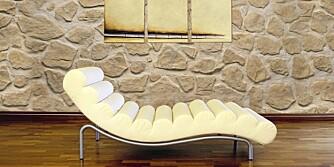 MUR UTEN STEIN: Store plater som ser ut som du har steinvegger er interiøreksperten skeptisk til.
