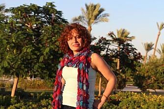 KASTET SLØRET:  Lamiaa al Sadaty er en av flere egyptiske kvinner som kastet sløret etter den arabiske våren.