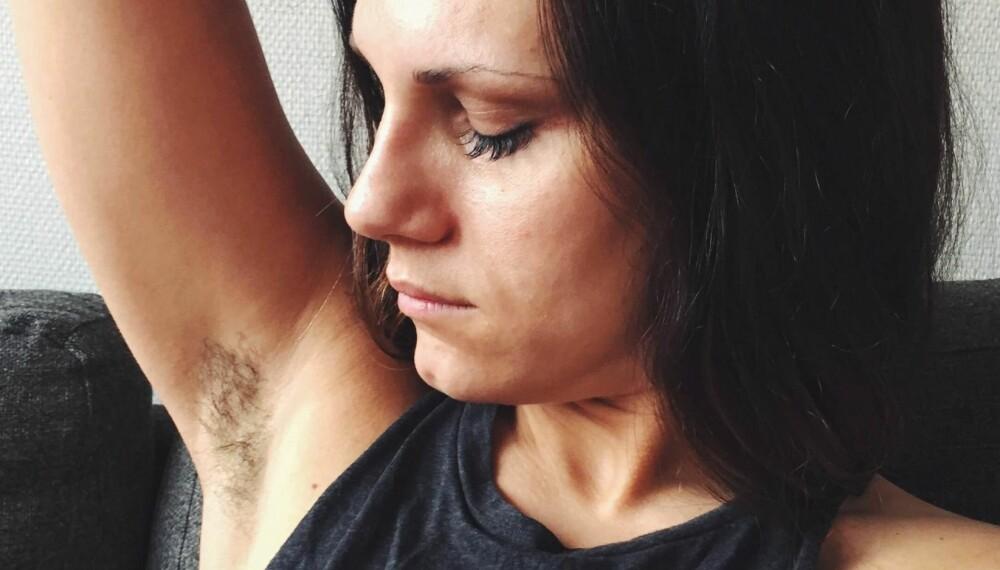 SOMMER: Ann Cathrin har sluttet å barbere seg. Og nå kommer sommervarmen...