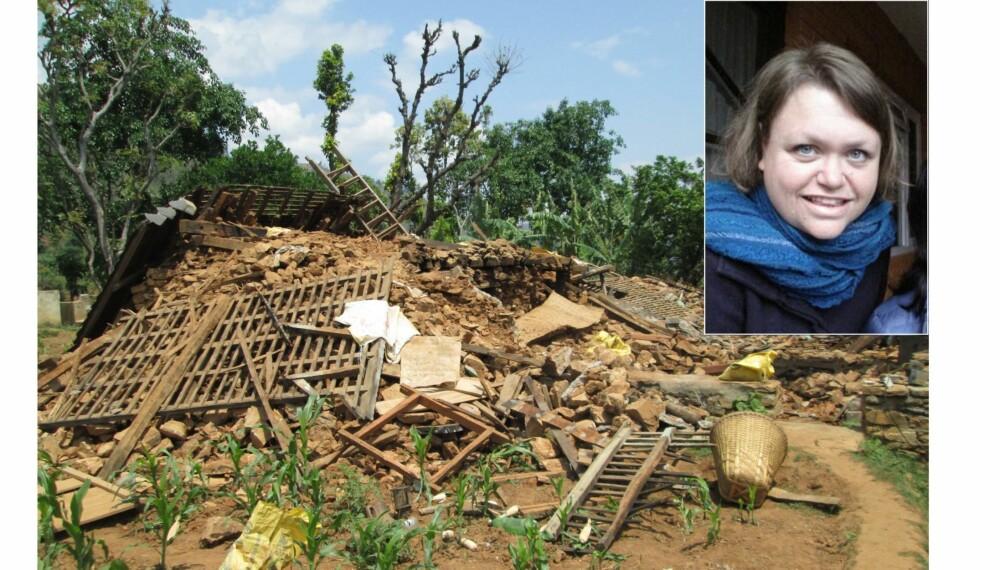 I NEPAL: Eldrid Brekke var i Katmandu da jordskjelvet rammet Nepal 25. april.