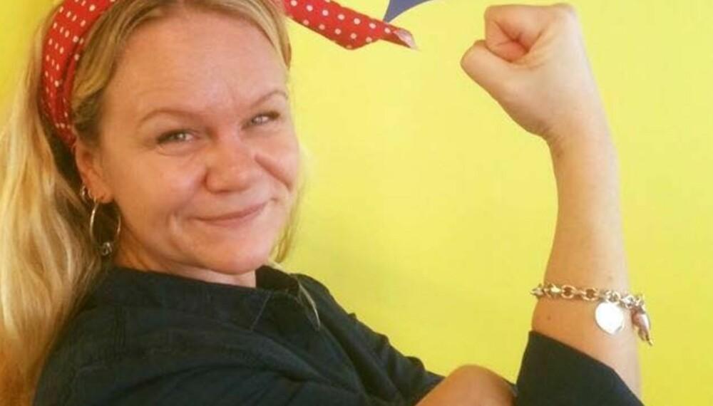 KVINNEDAGEN: Ingvild nektet å la seg tute på - på kvinnedagen og alt. Bildet er tatt hos oss i Kvinneguiden på Kvinnedagen i fjor.