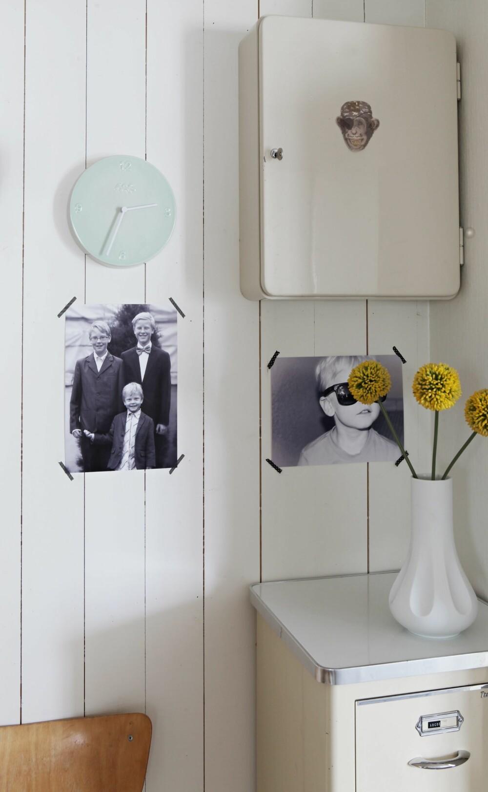 VEGGDEKOR: Tøffe bilder skaper liv på veggene.