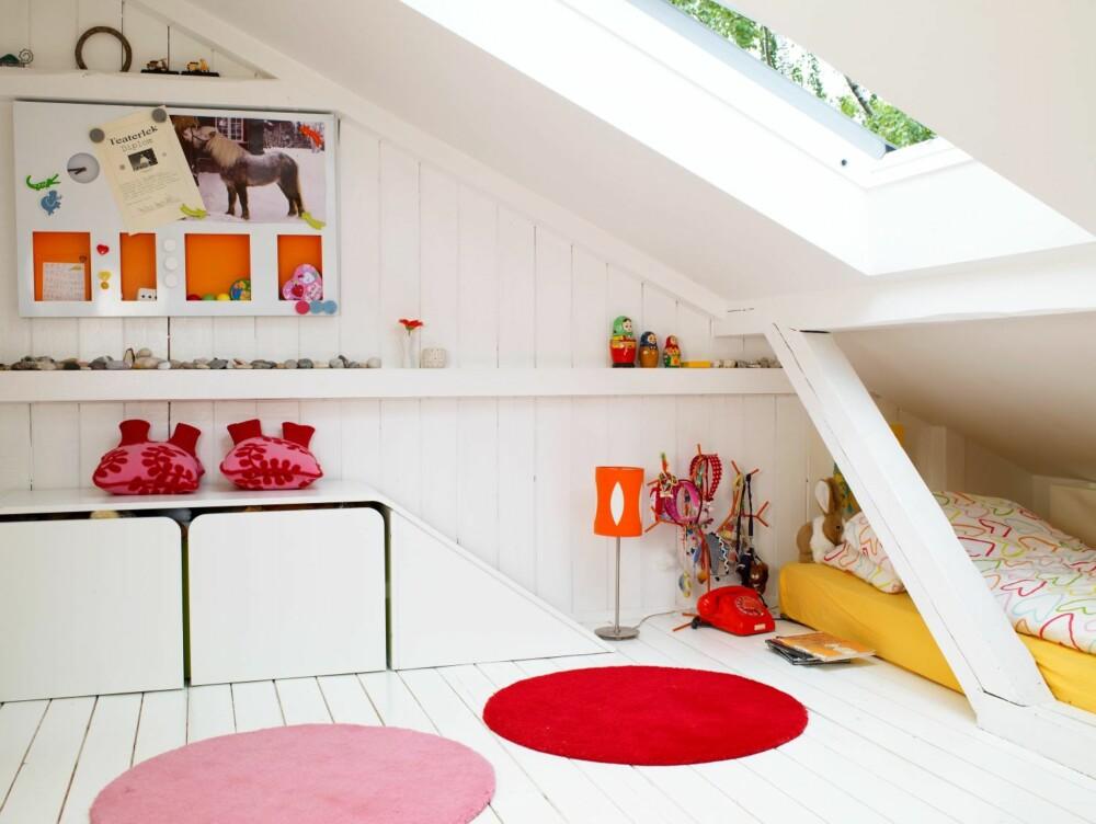 BARNESONE: Små barnerom eller lekestuer kan fungere godt på loft.