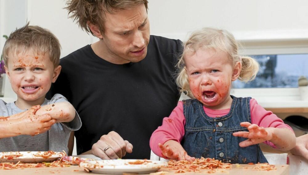 HELT NORMALT: Liker ikke, vil ikke, orker ikke. Alle vet hvor vanskelig det kan være å harmoniske familiemåltider med små barn.