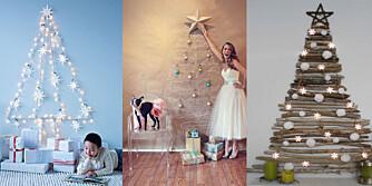 TIL VEGGS: Du trenger ikke store plassen for å ha plass til et av disse flotte juletrærne.