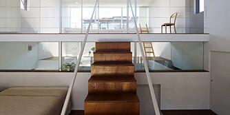 INEGN VEGGER: Her er rommene inndelt av etasjer, ikke vegger.