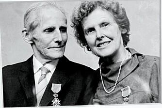 FANT HVERANDRE UNDER KRIGEN: Wanda og Bjørn giftet seg høsten etter frigjøringen. Begge har fått medaljer for sin innsats for fangene under krigen. Bjørn døde av kreft i 1985.