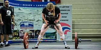 REKORDER: Kristin Thorvaldsens beste løft i konkurransesammenheng er 157,5 kilo i knebøy, 87,5 kilo i benkpress og 152,5 kilo i markløft.