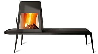 SITT VED PEISEN: «Shaker» gir deg muligheten til å sitte tett opptil ildstedet.