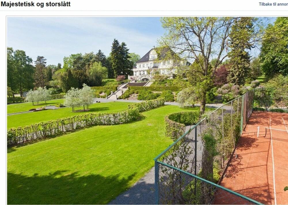 KOSTBART: Denne boligen er den dyreste til salgs noensinne på Finn.no og ligger nå til salgs med en prislapp på 110 millioner kroner.