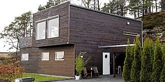 FERDIGHUS: Dette huset tok det seks måneder å sette opp, og da ble det gjort flere endringer innvendig.