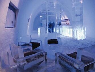 HOT, MEN KALDT: På Icebar i Stockholm kryper temperaturen aldri over -5 c.