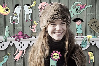 UFARLIG: Jenny Jordahl er illustratør og feminist, og bruker humor som et virkemiddel for å nå ut med budskapet.
