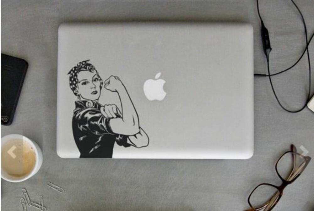 FEMINIST: MacBook med et budskap!