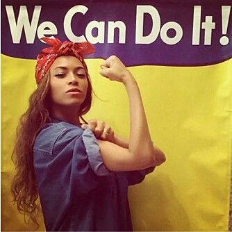 ROSIE: Beyoncé postet dette bildet på Instagramprofilen sin.