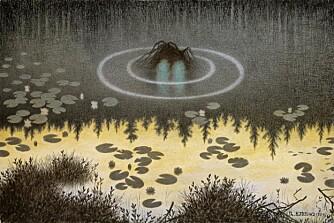 BARNEVAKT?: Nøkken av Theodor Kittelsen.