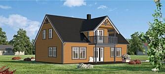 TRE FARGER: Maler du huset i tre avdempede farger som passer godt sammen, vil det ofte fremheve husets arkitektur på best mulig måte.