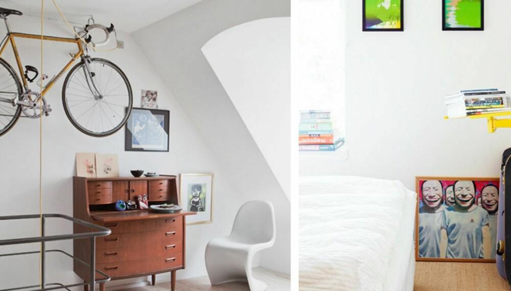 d8143d01 OSER AV EN AKTIV LIVSSTIL: Få sykkelen opp på veggen eller heng den i taket