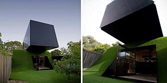 DEN SORTE BOKSEN: På den lille mørke tomten i Melbourne måtte man tenke nytt når huset skulle bygges på.