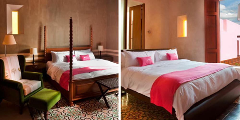 TEKSTILER: Sats på puter og tepper i god kvalitet til soverommet. Bland gjerne ulike mønstre og teksturer.