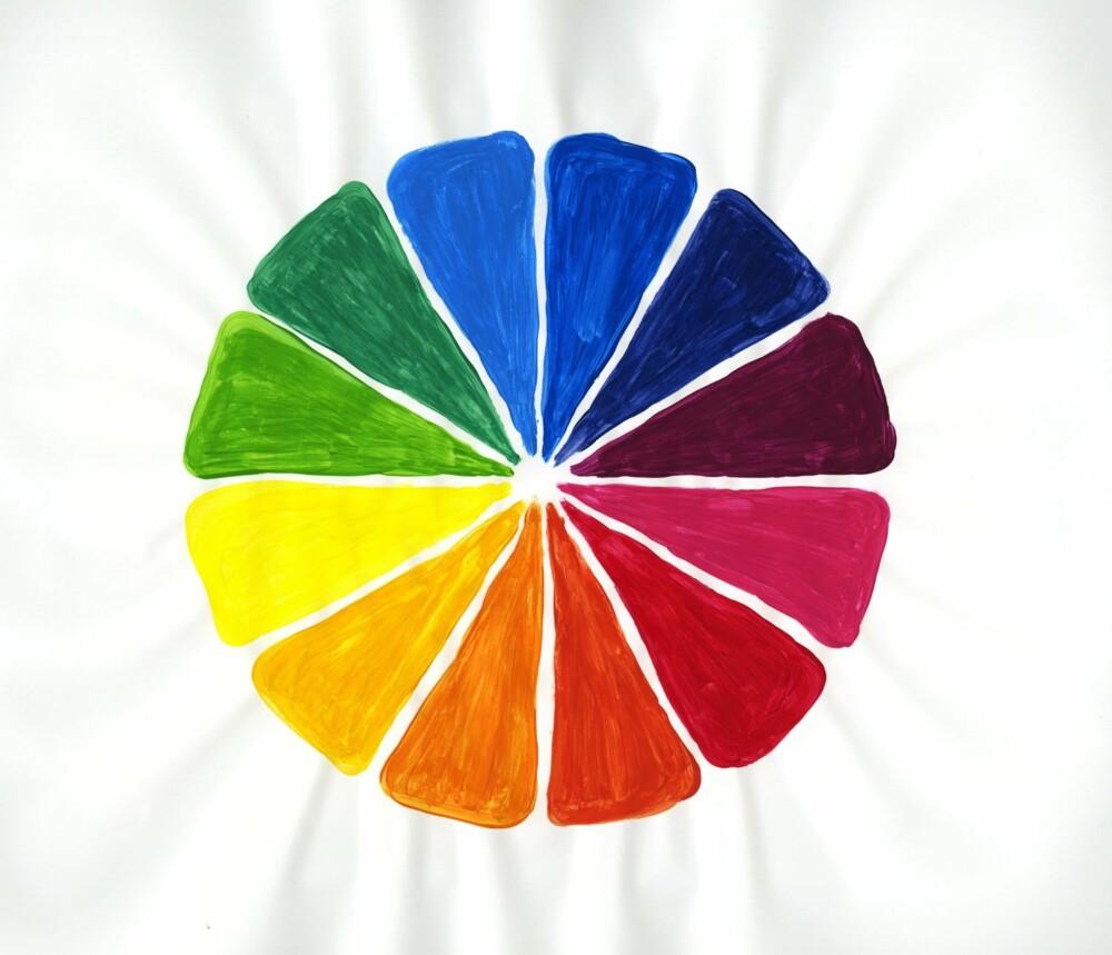 LÆR FARGEHJULET Å KJENNE: Vet du hvilke farger som bygger hverandre opp og samarbeider godt i interiøret, er det enklere å få hjemmet ditt til å skinne.