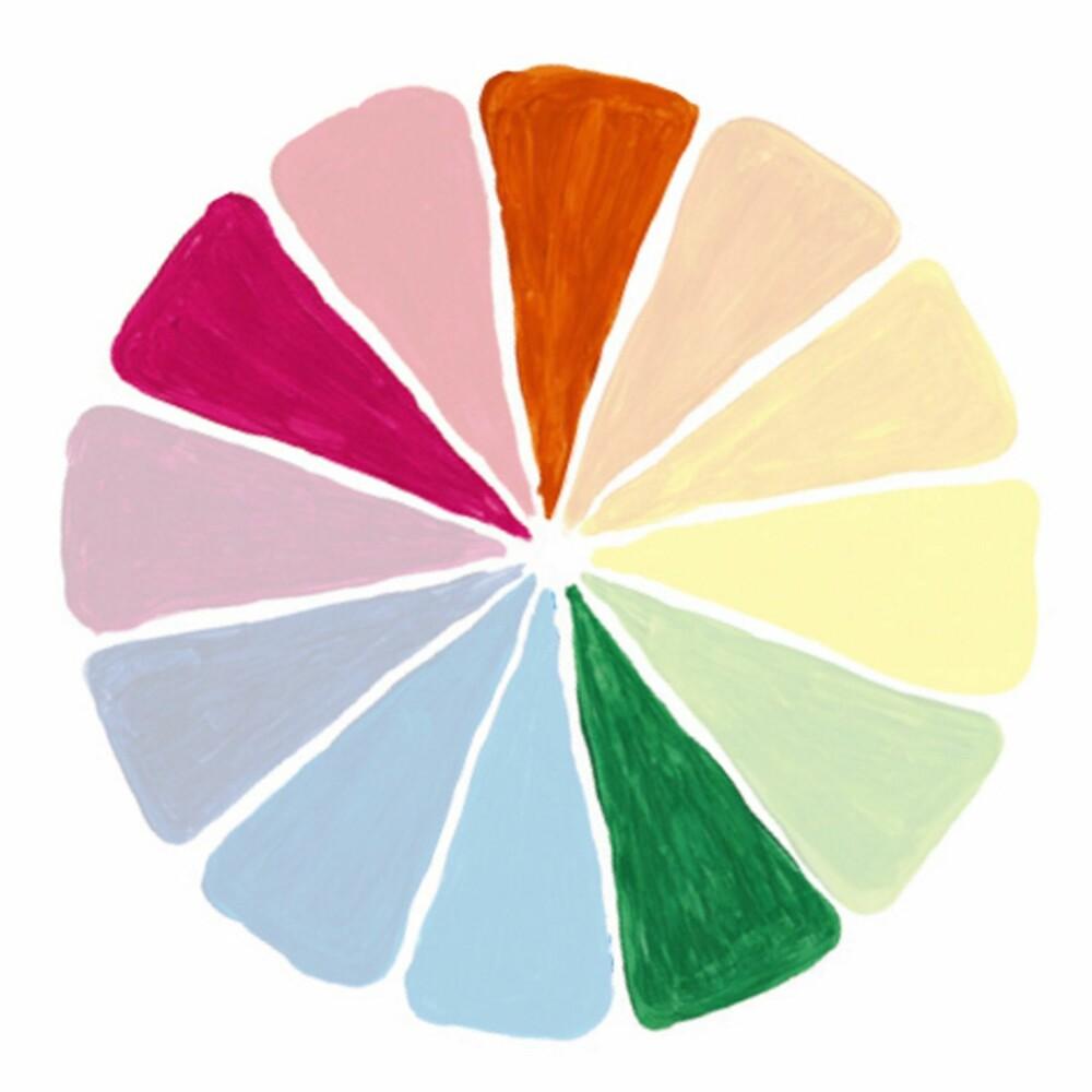SPLITTET KOMPLEMENTÆR: Her bruker du én farge sammen med de to fargene som er på hver side av fargens komplementærfarge.