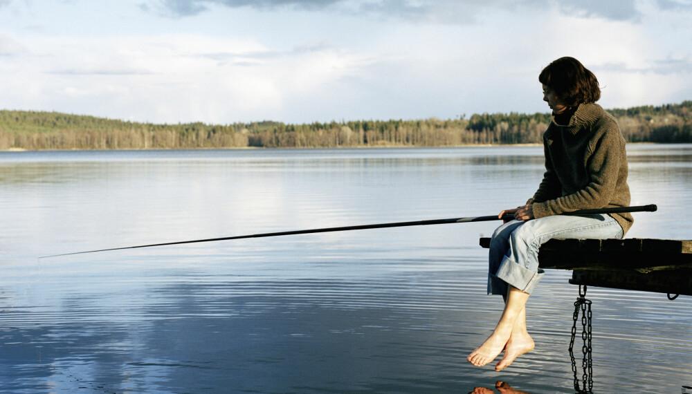 FISKESTANG: Lori Day vil ikke ha rosa fiskestang bare fordi hun er en kvinne som skal fiske.