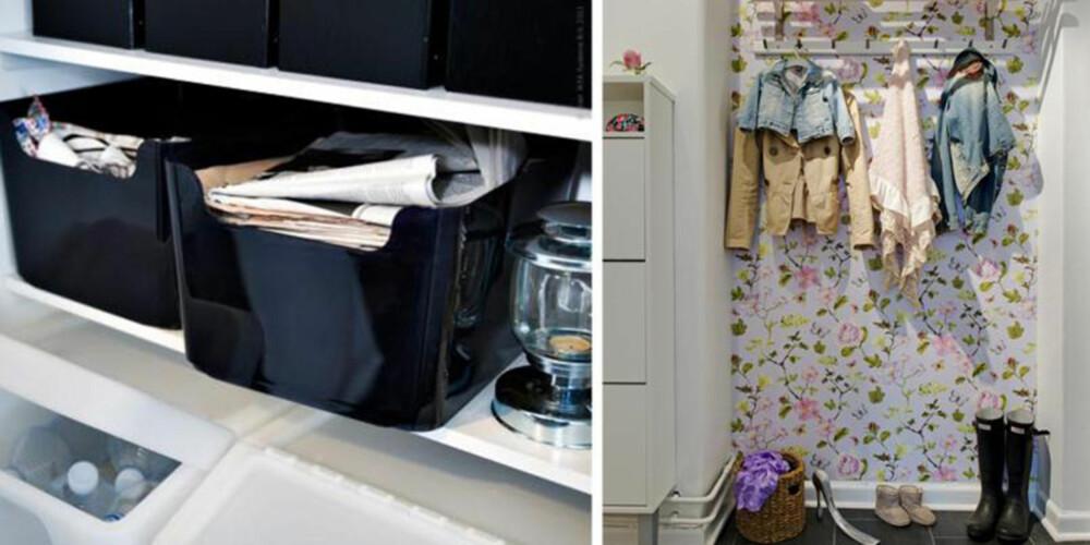 PÅ PLASS: Alt i huset bør ha en fast plass.
