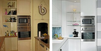 KJØKKENFORANDRING. Eieren ville ha en ny og lysere stil på kjøkkenet. Slik ble det.
