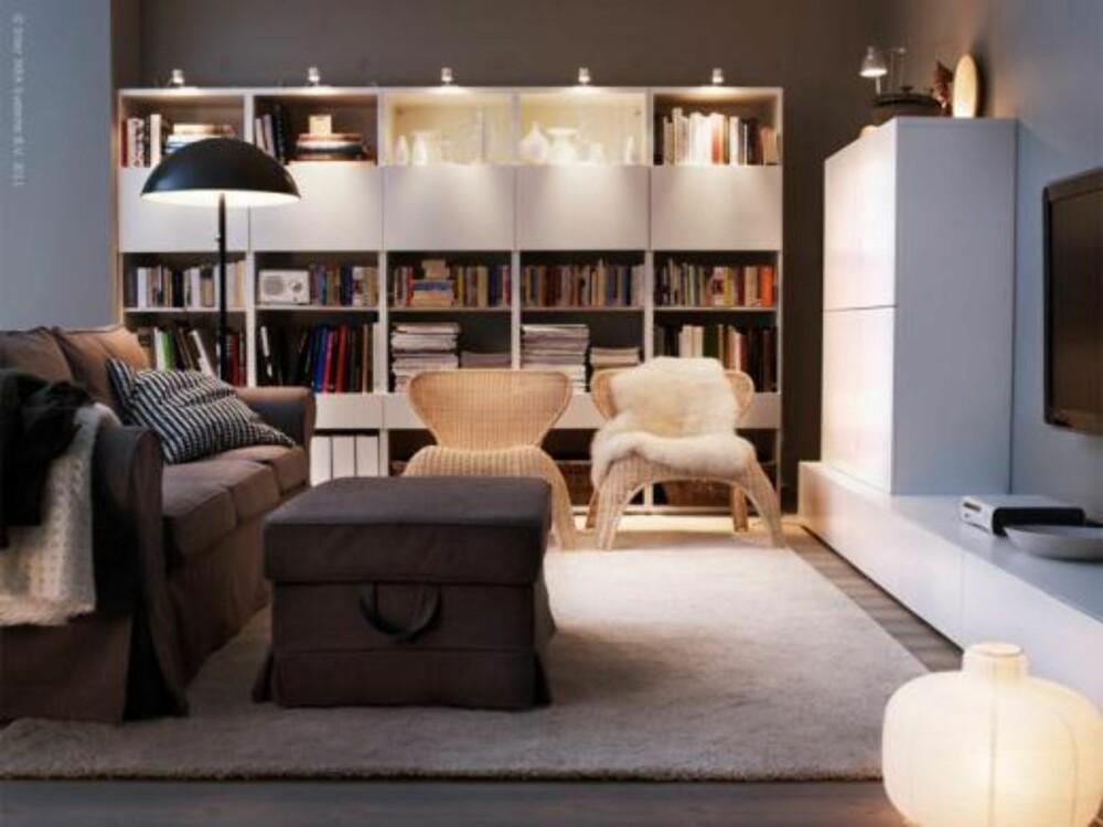 LYS OPP: Bruk lys fra flere og forskjellige lyskilder, så skaper du dybde og rom.