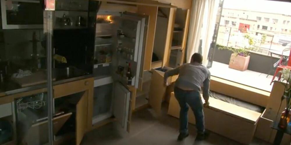 LITT AV EN JOBB: Eieren av leiligheten må finne frem alle rommene før han kan bruke dem.