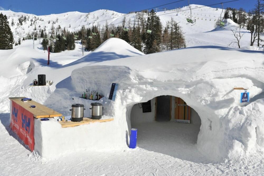 Kryp sammen i slovensk igloo-idyll
