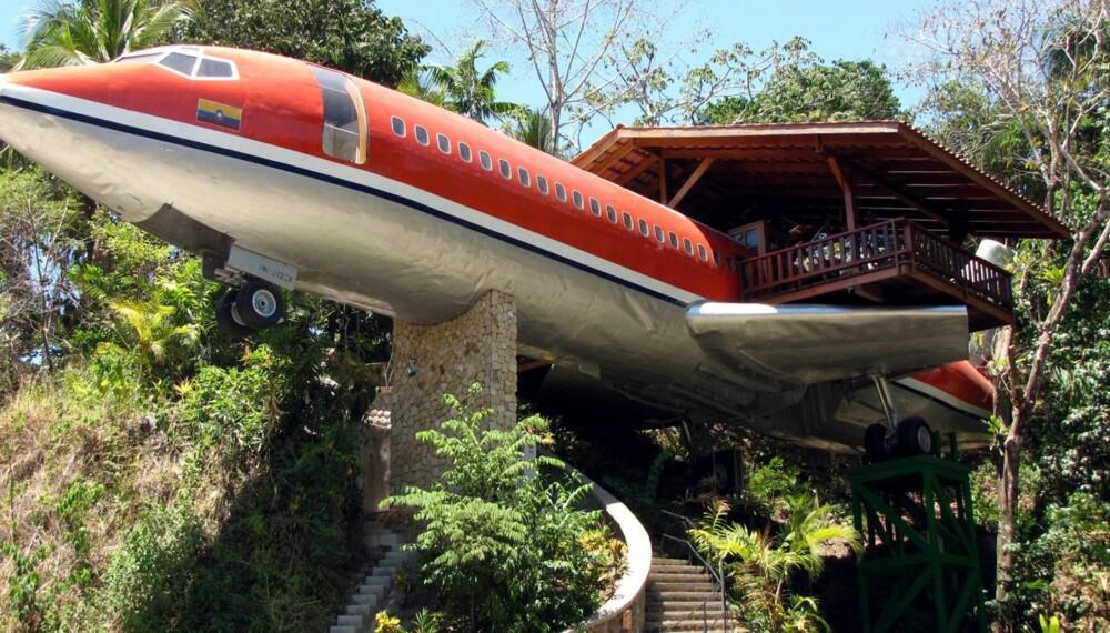 Havutsikt fra et 727-fly i Costa Rica