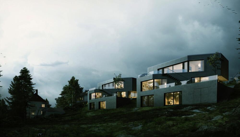 GODT MARKED: Nye boligprosjekter i Åsryggen på Nordstrand. Slike luksusboliger tilfredstiller nok de fleste kravene en kresen kjøper måtte ha.