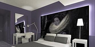 HIMMELSK: Motivene på sengegavlene minner oss om Belgias verdensberømte malerkunst. Innredningen er tegnet av israelske  Baranowitz Kronenberg Architecture LTD.