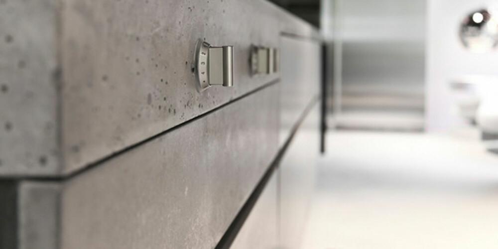 I TIDEN: Mange har forelsket seg i den industrielle looken, og benkeplater i betong opplever et trend-øyeblikk for tiden.