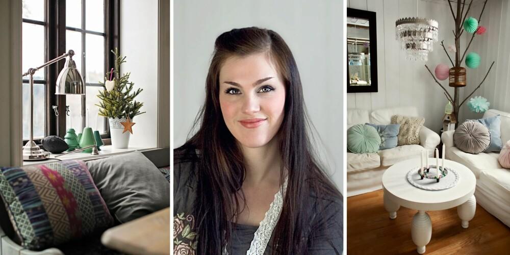 """Stine Ringen Rogstad blogger om sin forkjærlighet for pasteller fra en gård utenfor  Lillestrøm, på bloggen """"Stines hjem - livet på landet"""".  Til jul går hun gjerne ut i skogen etter pynt."""