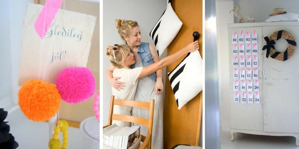 Dotty Love består av Hilde Mork (t.v) og Linn Karen Førland (t.h). Her ser vi bilde av Hildes fargespreke julepyntede hjem i Skien.