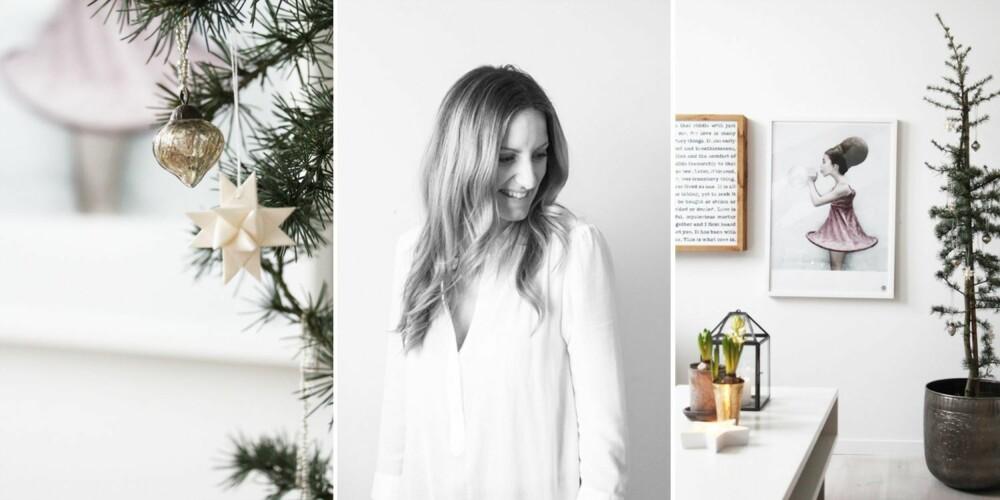 Elisabeth Heier-Werner blogger fra sin loftsleilighet på Grünerløkka under navnet Elisabethheier. Hvit jul innendørs er noe av det fineste hun vet.